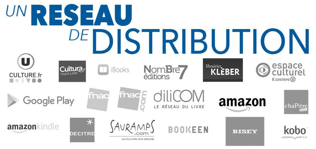 réseau distribution Nombre7 éditions